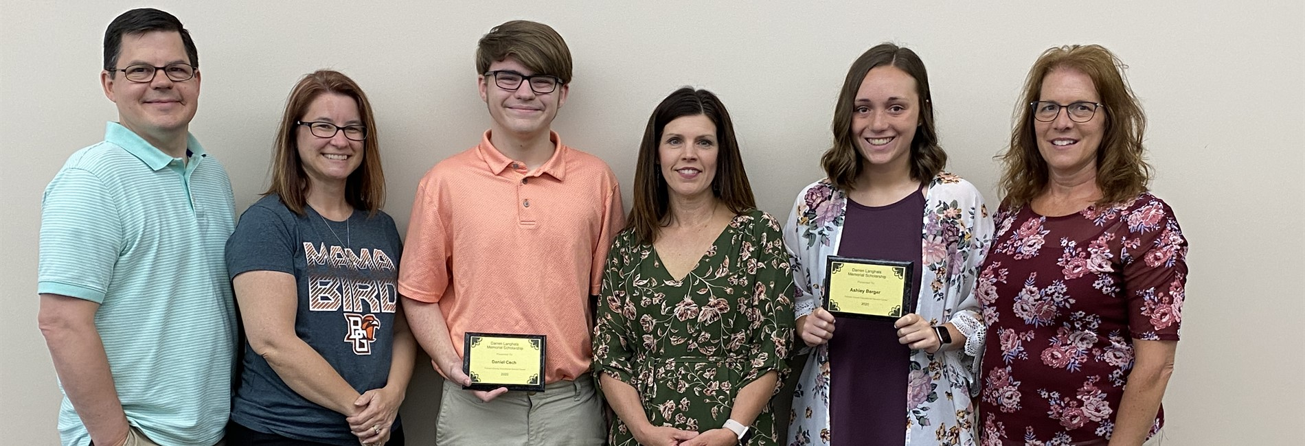 Darren Langhals Memorial Scholarship recipients